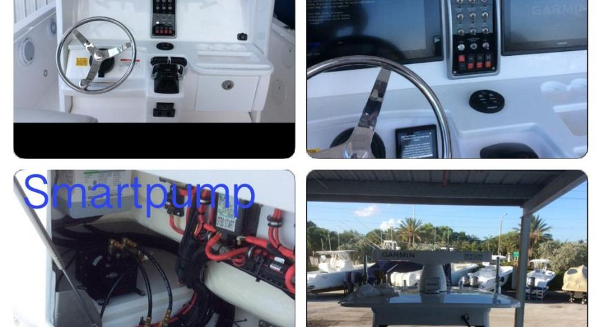 Everglades Boats With Full Garmin Dual 7616xsv, GHP Reactor With Smart Pump and Radar GMR624 XHD2