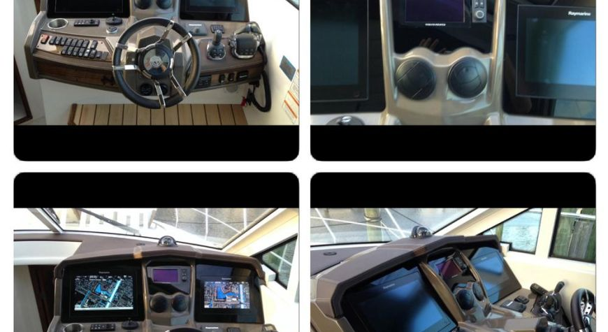 Cruiser yachts, Full Raymarine system with Glass bridge look even the Volvo Gage has been counter sunk